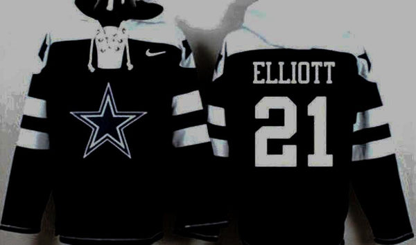 the latest e249f 6bce3 Ezekiel Elliott Dallas Cowboys pullover hoodie