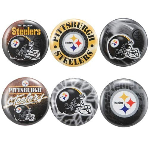 Pittsburgh Steelers 6 pack buttons - Sports Nut Emporium