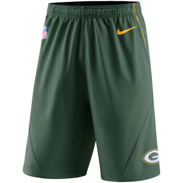 Green Bay Packers Nike  Men's Green Fly XL 5.0 Performance Shorts - Sports Nut Emporium