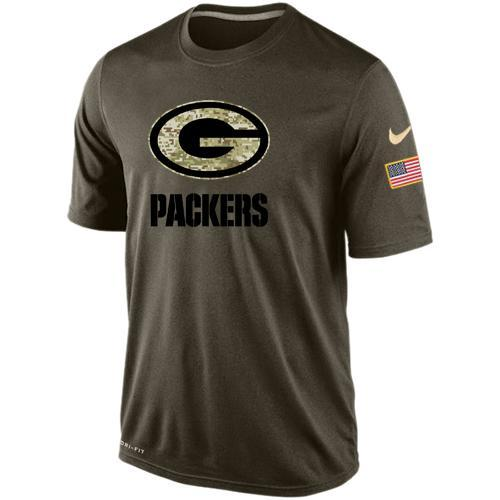 Green Bay Packers Salute To Service Light Green Men's tee Shirt - Sports Nut Emporium