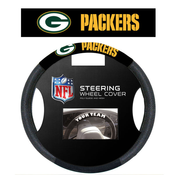 Green Bay Packers poly Suede Steering Wheel Cover - Sports Nut Emporium