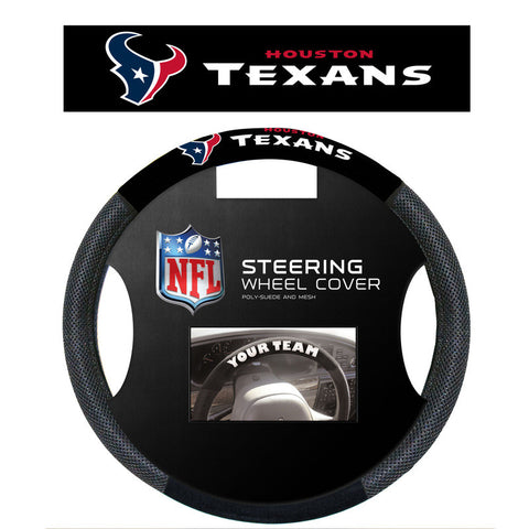 Houston Texans poly Suede Steering Wheel Cover - Sports Nut Emporium