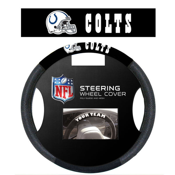 Indianapolis Colts poly Suede steering Wheel Cover - Sports Nut Emporium