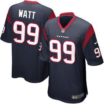 J J  Watt  Houston Texans Nike elite NFL football jersey . (Blue) - Sports Nut Emporium