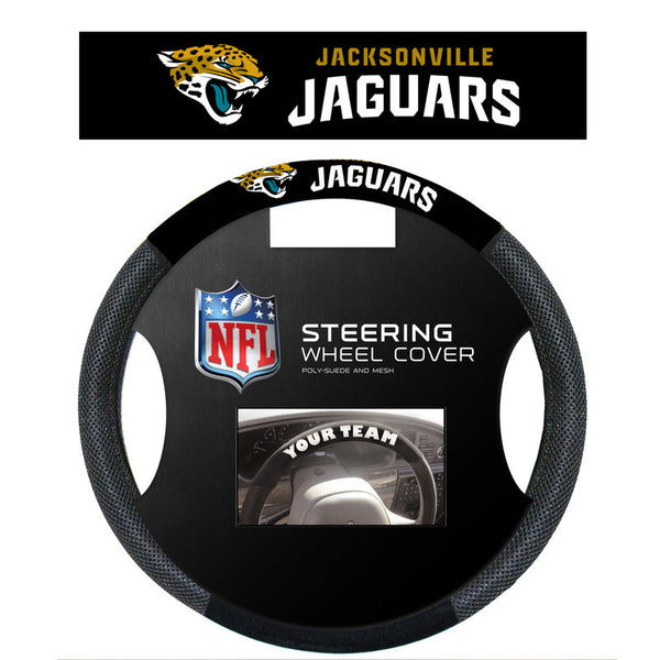 Jacksonville Jaguars poly Suede Steering wheel Cover - Sports Nut Emporium