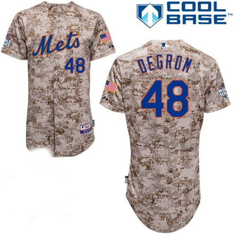 Jacob deGrom  New York Mets Cool BAse Camo Jersey - Sports Nut Emporium
