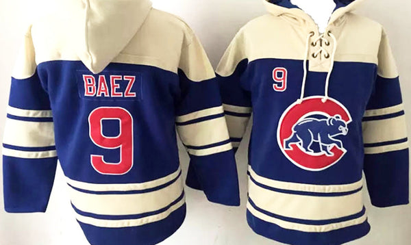 Javier Baez  Chicago Cubs blue pullover hoodie - Sports Nut Emporium
