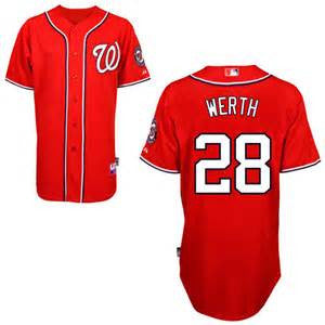 Jayson Werth Red mens  Cool Base Stitched Baseball Jersey - Sports Nut Emporium