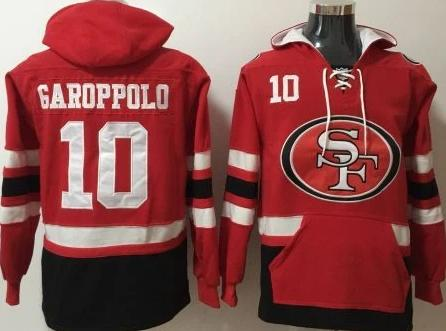 Jimmy Garoppolo San Fransisco 49ers front pocket pullover hoodie - Sports Nut Emporium