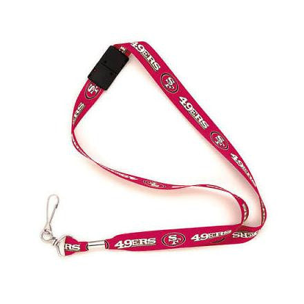San Fransisco 49ers lanyard and ID holder - Sports Nut Emporium