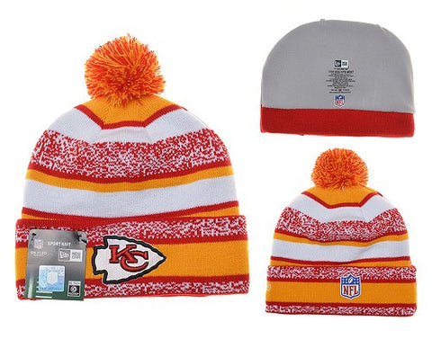 Kansas City Chiefs winter knit Beanie 028 - Sports Nut Emporium