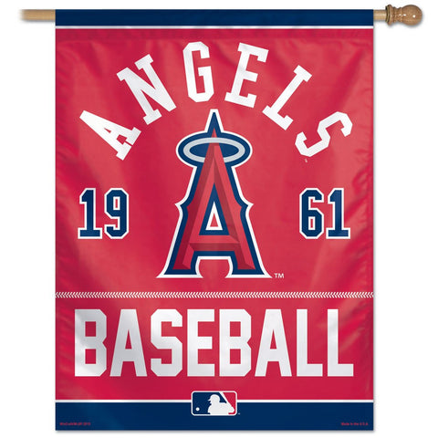 Los Angeles Angels year Of Inception Vertical Flag - Sports Nut Emporium