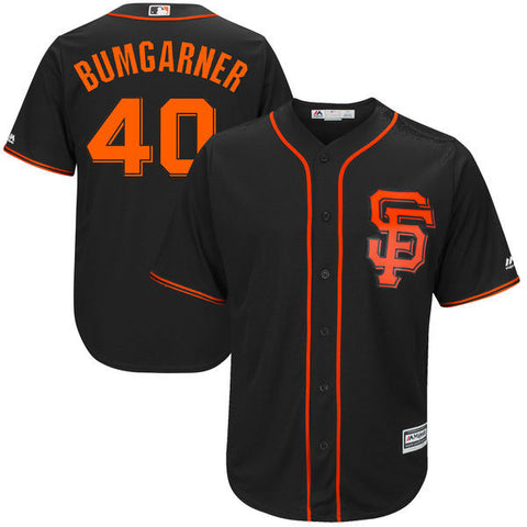 Madison Bumgarner San Francisco Giants  Majestic Black Alternate  Cool Base Player Jersey - Sports Nut Emporium