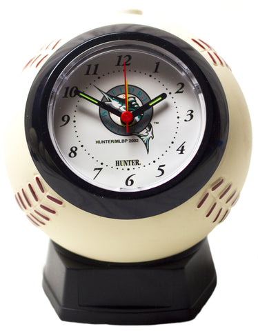 Miami Marlins baseball shaped alarm clock - Sports Nut Emporium
