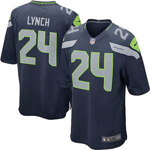 Marshawn Lynch Steel Blue # 24 Seattle Seahawks Men's Stitched NFL Nike Elite - Sports Nut Emporium