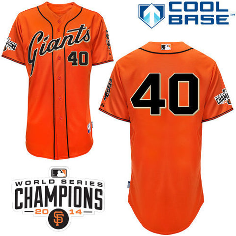Madison Bumgarner Cool base  San Fransisco Giants Orange jersey - Sports Nut Emporium