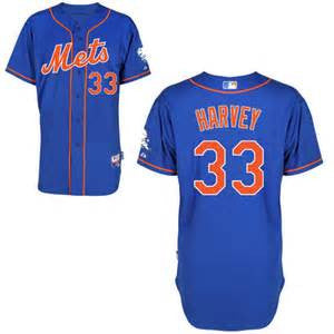 Matt Harvey New York Mets Cool base Blue Jersey - Sports Nut Emporium