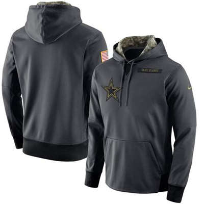 DALLAS COWBOYS. Dallas Cowboys 2017 Men s Nike Anthracite Salute to Service  Player Performance Hoodie - Sports Nut Emporium 29bf67d1f
