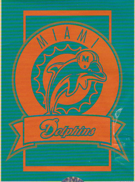 "Miami Dolphins Crest Collection 60x80"" Blanket/Throw - Sports Nut Emporium"