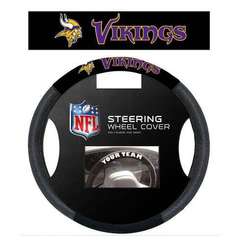 Minnesota Vikings Poly Suede Steering Wheel Cover - Sports Nut Emporium