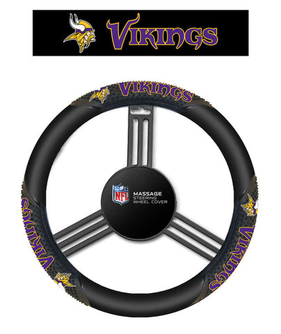 Minnesota Vikings Massage Grip Steering Wheel Cover - Sports Nut Emporium