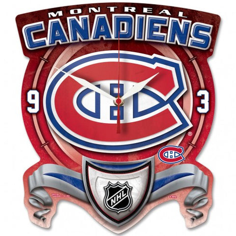 Montreal Canadins High Def. Plaque Style wall Clock - Sports Nut Emporium
