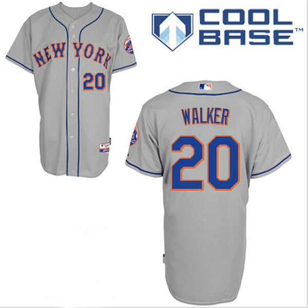 Neil Walker New York Mets Grey cool Base jersey - Sports Nut Emporium