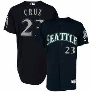 Nelson Cruz #23 Seattle Mariners  Navy Blue Cool Base Stitched MLB Jersey - Sports Nut Emporium