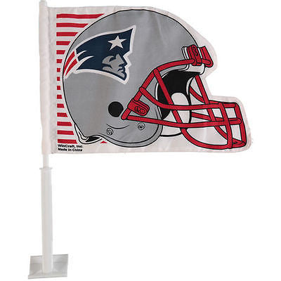 New England Patriots  Helmet Shaped Car Flag - Sports Nut Emporium