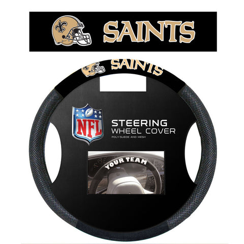 New Orleans saints poly Suede Steering Wheel Cover - Sports Nut Emporium