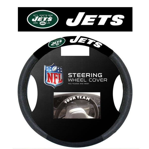 New York Jets Poly Suede Steering Wheel Cover - Sports Nut Emporium