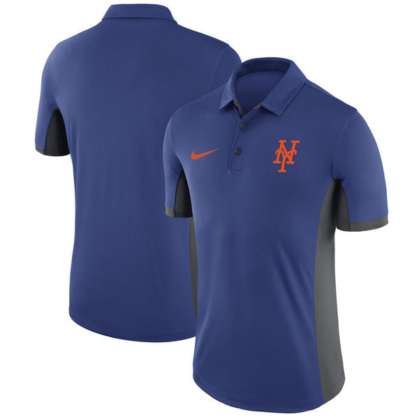 New York Mets Mens Nike Franchise  Royal Blue Collared Polo - Sports Nut Emporium