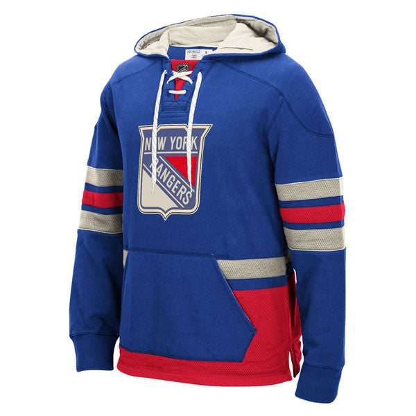 New York Rangers Hockey style Blue Front Pocket pullover hoodie - Sports Nut Emporium
