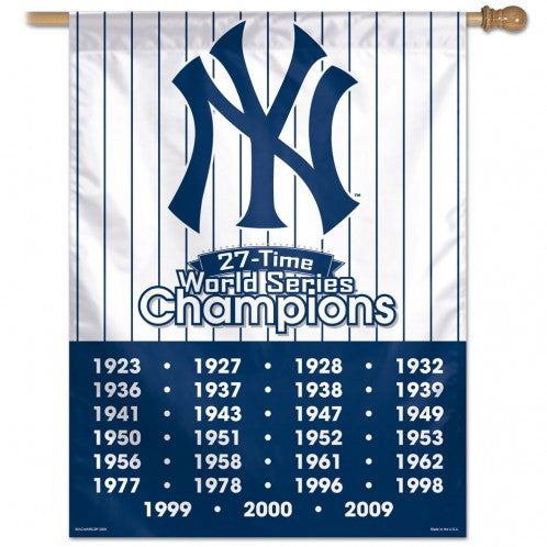 New York Yankees world Series Champs Historical Flag - Sports Nut Emporium