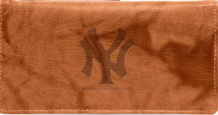 New York Yankees Leather Checkbook Cover - Sports Nut Emporium