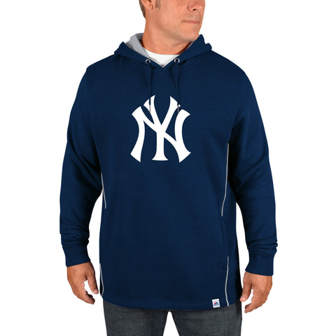 d26bfb231 New York Yankees Majestic Navy Cooperstown Left Righty Pullover Hoodie