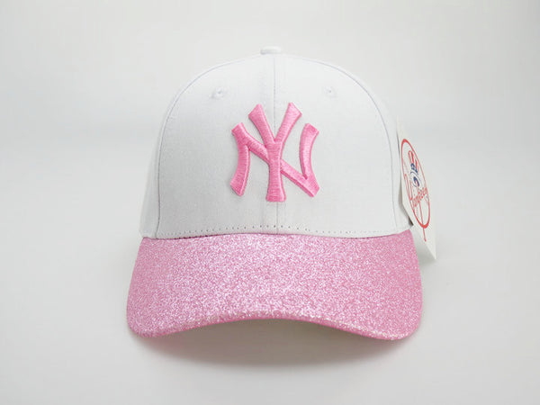 51adbd1d Product Image New York Yankees New Era White/Pink Shimmer Shine 9FORTY  Adjustable Hat - Sports Nut
