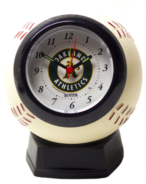 Oakland A's baseball shaped alarm clock - Sports Nut Emporium