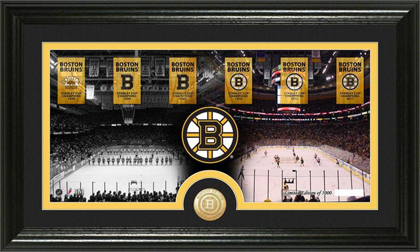"Boston Bruins ""Tradition"" Minted Coin Pano Photo Mint - Sports Nut Emporium"