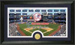 "New York Yankees ""Traditions"" Bronze Coin Panoramic Photo Mint - Sports Nut Emporium"
