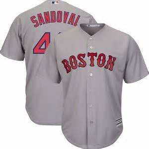 Pablo Sandoval  Red Sox  Grey Cool Base Stitched MLB Jersey - Sports Nut Emporium