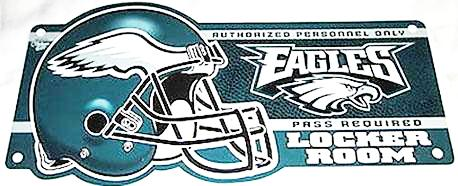 Philadelphia Eagles locker Room sign - Sports Nut Emporium