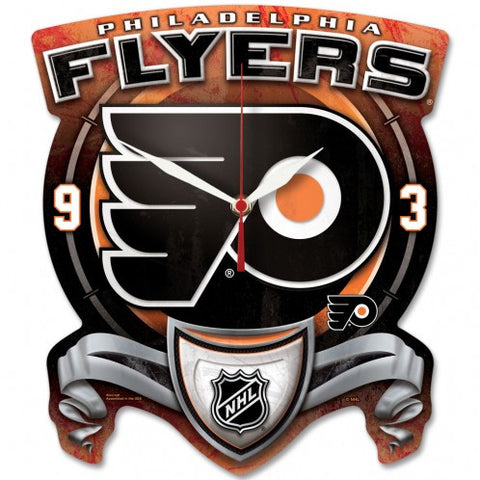 Philadelphia Flyers High Def Plaque Style Wall Clock - Sports Nut Emporium
