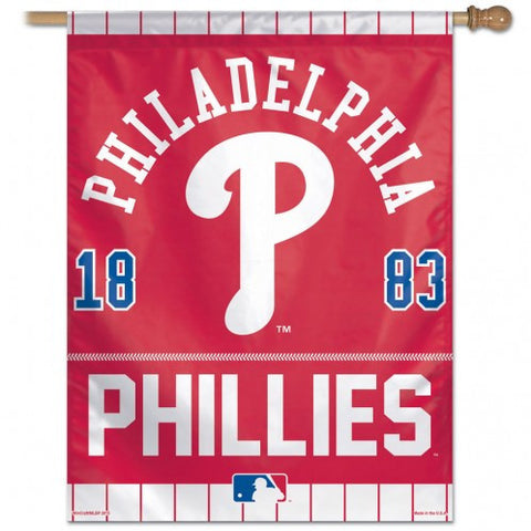 Philadelphia Phillies year of Inception Vertical Flag - Sports Nut Emporium