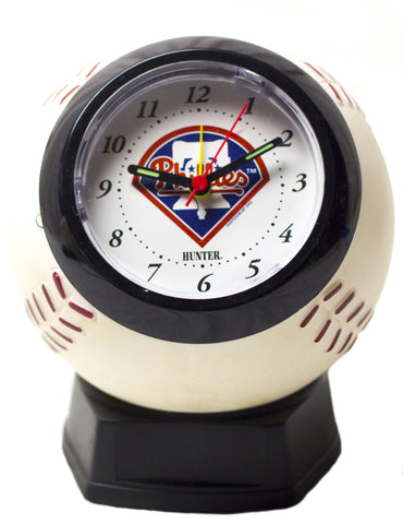 Philadelphia Phillies baseball shaped alarm clock - Sports Nut Emporium