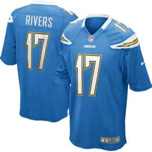 Phillip Rivers # 17 San Diego Chargers  Men's Stitched NFL Nike  Elite jersey (electric Blue) - Sports Nut Emporium