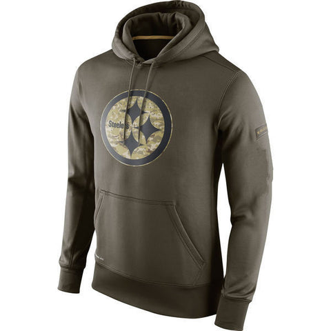 11988a19e26 Pittsburgh Steelers Salute to Military Pullover Sweatshirt