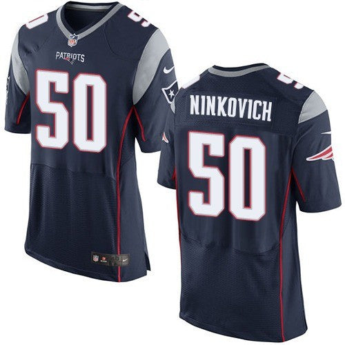official photos 280e5 952cf Rob Ninkovich New England Patriots # 50 Navy Blue Team Color Men's Stitched  NFL Elite Jersey