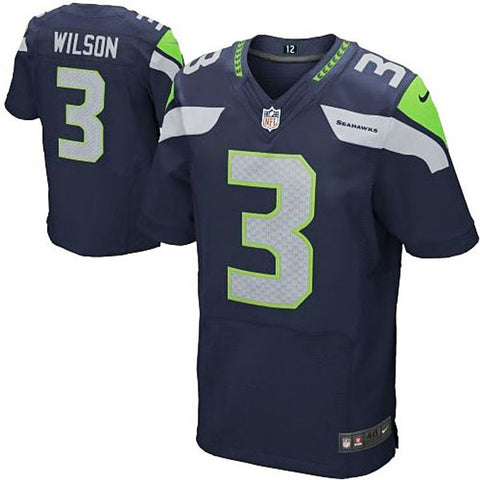 Russell Wilson Nike Elite NFL football jersey ( Steel blue) - Sports Nut Emporium