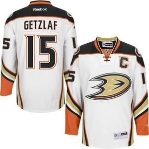 Ryan Getzlaf Anaheim Ducks # 15  White New Road Stitched NHL Jersey - Sports Nut Emporium